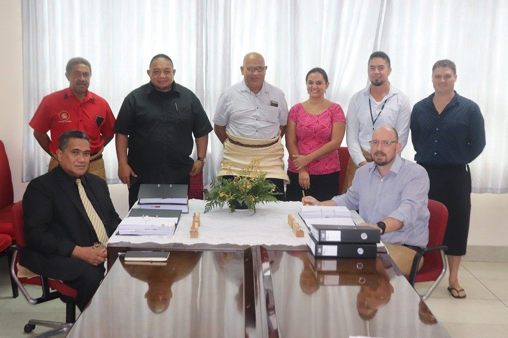 Signing with Infratec for TREP03 (Vava'u and 'Eua)